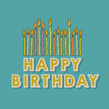 Happy birthday candles Stock Photos