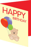 Happy birthday card Royalty Free Stock Photo