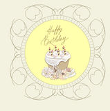 Happy birthday card. Universal template for greeting card, web page, background Stock Photography