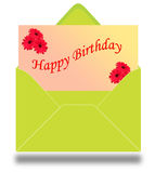 Happy birthday card. With red daisy royalty free illustration
