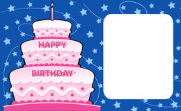 Happy birthday card. Illustration of Happy birthday invitation card vector illustration