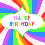 Happy birthday card. Happy birthday greating card -  illustration Stock Images