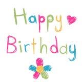 Happy birthday card Stock Images