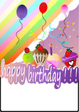 Happy birthday card. Vector illustration Stock Image