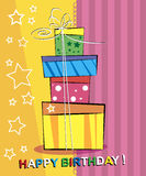Happy birthday Card. Royalty Free Stock Image