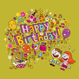 Happy Birthday card Royalty Free Stock Photos