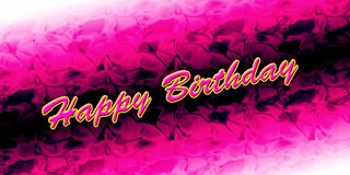 Happy birthday card. A colorful background Happy birthday card Stock Image