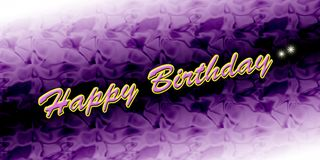 Happy birthday card. Colourful background Stock Image