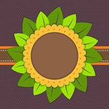 Happy Birthday Card With Abstract Sunflower Royalty Free Stock Photography