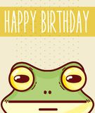 Happy birthday card with animal cartoon stock illustration