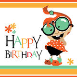 Happy Birthday card baby smile Royalty Free Stock Image