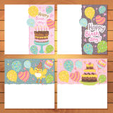 Happy Birthday card background with balloons. Royalty Free Stock Images