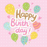 Happy Birthday card background with balloons Stock Photography