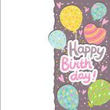 Happy Birthday card background with balloons. Royalty Free Stock Photography