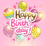 Happy Birthday card background Stock Photos