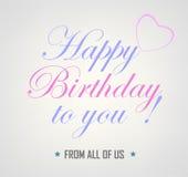 Happy Birthday Card Background Stock Photo