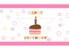 Happy Birthday card background Stock Image