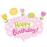 Happy Birthday card background Royalty Free Stock Images