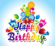 Happy Birthday Card Background Royalty Free Stock Photography