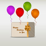 Happy birthday card with ballons Royalty Free Stock Photos