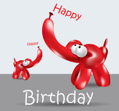 Happy Birthday Card balloon elephant Royalty Free Stock Photo