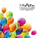 Birthday card. Happy Birthday card with balloons Royalty Free Stock Photo