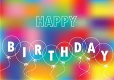 Happy birthday card with baloons Royalty Free Stock Photos