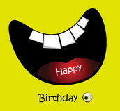 Happy Birthday Card big smile funny. Art Illustration Happy Birthday Card big smile funny Royalty Free Stock Photography