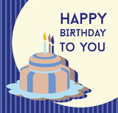 Happy birthday card. Birthday cake Royalty Free Stock Photos