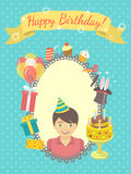 Happy Birthday Card for Boy Royalty Free Stock Photo