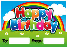 Happy birthday. Card in bubble font Royalty Free Stock Images