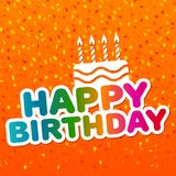 Happy Birthday Card with Cake Icon. Confetti background. Eps10 Vector Royalty Free Stock Photography