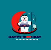 Happy birthday card with cat Royalty Free Stock Image