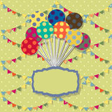 Happy birthday card. Celebration  background with Stock Photography