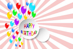Happy Birthday card with circle for your text Stock Images