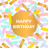 Happy birthday card with colorful confetti. Vector illustration. Happy birthday card with colorful confetti. Vector illustration Stock Images