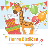 Happy Birthday card . Royalty Free Stock Images