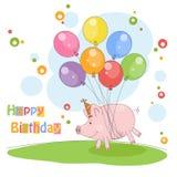 Happy Birthday card . Royalty Free Stock Photos