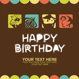 Happy birthday card with cupcakes Stock Image