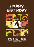 Happy birthday card with cupcakes Stock Photography