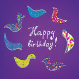 Happy birthday card cute design Stock Image