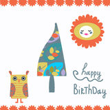 Happy birthday card,  Royalty Free Stock Photography