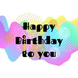 Happy birthday card. 3D Wavy Background. vector. Happy birthday card. 3D Wavy Background. vector Stock Photography