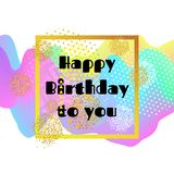 Happy birthday card. 3D Wavy Background. vector. Happy birthday card. 3D Wavy Background. vector Stock Photos