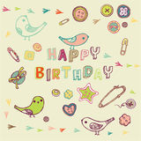 Happy Birthday card design Stock Photos