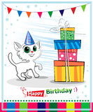Happy birthday card design. Stock Photography