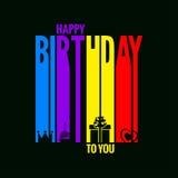 Happy birthday card design background Stock Photo