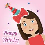 Happy birthday card design. Happy birthday colorful card design, vector illustration Royalty Free Stock Image