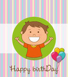 Happy birthday card design. Stock Photos
