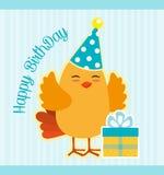 Happy birthday card design. Royalty Free Stock Image